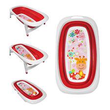 Baby Bath Time Foldable Splash & Play Red Giraffe Design Transportable BathTub