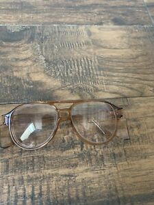 American Optical AO Aerosite Z87 Brown Safety Glasses w Side Shields G149