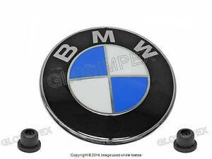 """BMW (1987-2010) Emblem """"Roundel"""" with Grommets GENUINE + 1 year Warranty"""