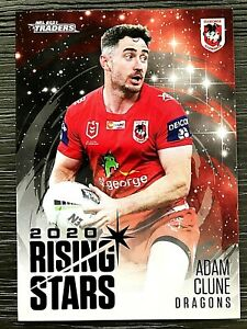 2021 NRL TRADERS '2020 RISING STARS' TRADING CARD - ADAM CLUNE/DRAGONS