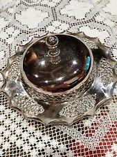 Antique silver plated butter dish J.B. Chatterley & Sons Ltd - Birmingham - 1896