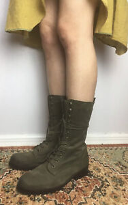 Steve Maden Wmn Sz 6 LUCIA Olive Green Leather Lace Up Combat Boots