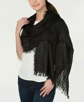 DKNY Donna Karan Lightweight Open Weave Scarf Wrap Shawl Hijab, Black