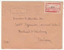 LETTRE ALGERIE ORAN  FLAMME CAMPAGNE  HIVER / TOULON  CREDIT LYONNAIS 1947 AVION