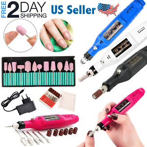 Electric Nail Drill Portable Acrylic Nail Art Kit File Manicure Pedicure Machine
