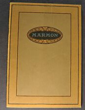 1921 Marmon 34 Catalog Sales Brochure Excellent Original 21