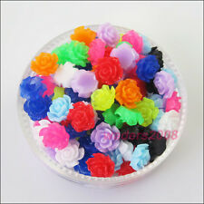 60 New Charms Mixed Resin Flowers Cameos fit Cabochons Settings Flatback 6mm