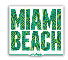 Miami Beach Florida Car Bumper Sticker Decal 5'' x 5''