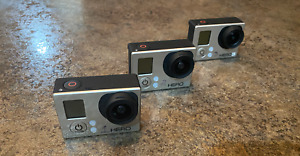 GoPro Hero 3 Silver and White w/ Accessories, Charger, and Batteries