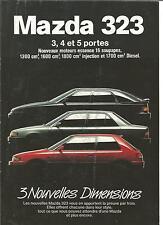 Catalogue brochure Katalog Prospekt MAZDA 323 ANNEE 1990 10  PAGES