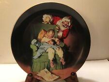 Christmas Vigil Plate for Sundblom Santa series 1991 Near Mint 8 1/2 inch