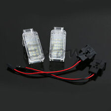 2x White CANbus 18 LED Door Courtesy Lights Lamps For Audi Q5 Q7 A3 A4 A5 A6 A7