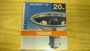 Osram Halospot 70 20 watt 41970 FL - PACK OF 1  - BRAND NEW - BA15d - 12v