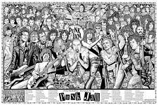 PUNK JAM - HOWARD TEMAN ART POSTER 24x36 - ROCK MUSIC 820