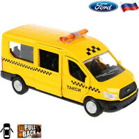 Diecast Vehicles Scale 1:43 Ford Transit Minibus Russian Taxi Metal Model Van