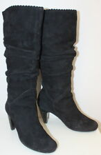 BP Zone black suede heeled boots women Eur 37 US-Aus 6.5 UK USED from Italy