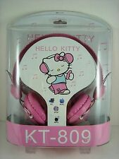 Nouveau Sur Oreille Casque Pour iPhone iPad MP3/Boîte 4 in (environ 10.16 cm) pour Hello Kitty + montre