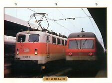 Locomotive BR 141 Germany DB Railway Chemin de Fer Train 1956 FICHE FRANCE