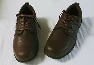 Mens Round Toe Lace Up Work Casual Outdoor Walking Faux Leather Leisure Shoes 10