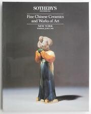 Auction Catalog Sotheby's NY Fine Chinese Ceramics & Works of Art June 4 1985 !!