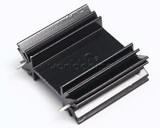 5PCS Black Triode IC heat sink Cooling Fin For TO-220 Aluminum 34*12*30MM