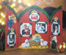Bucilla Felt Photo Album Christmas Manger Sewing Craft Kit Religious 9 x 12