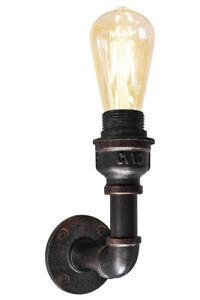 Vintage Industrial Rustic Steampunk Single Wall Light Metal Waterpipe Lamp M0160