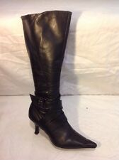 River Island Black Knee High Leather Boots Size 3