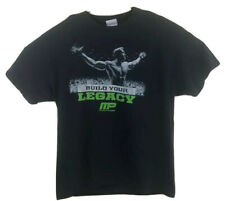 MP Muscle Pharm Build Your Legacy Arnold Neon Graphics Large Black t-shirt A18