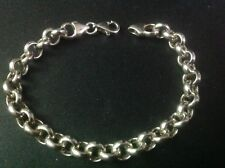 "NEW Sterling Silver HEAVY Bracelet 8"" made in ITALY"