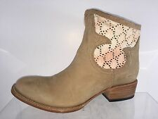 New Freebird Womens Beige Leather Ankle Boots 10 M