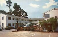 Carmel-By-the-Sea California~Hide-A-Way Inn~Motel Pool~1950s Car~Postcard