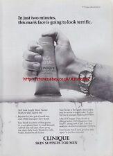 Clinique Skin Supplies For Men 1995 Magazine Advert #827