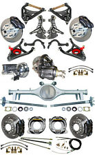"""NEW 2"""" DROP SUSPENSION & WILWOOD BRAKE SET,CURRIE REAR END,ARMS,POSI GEAR,646671"""