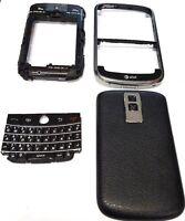 Original Black Full Housing Front Case Battery Door Fits Blackberry Bold 9000