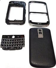 Original Black Full Housing Front Case Battery Door Fits Blackberry Bold 9000