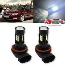 2x Canbus H8 3030 21SMD LED DRL Daytime Running Fog Light Bulbs For Skoda Superb