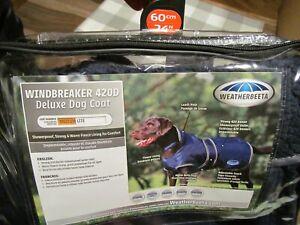 WeatherBeeta Deluxe Dog Coat Windbreaker size 24   NIB