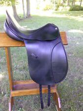 "County Warmblood Dressage English Saddle; 17"" #4; Black; EUC Classic"
