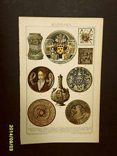 1894_ANTICA CROMOLITOGRAFIA_FAYENCE_CERAMICA.VASI....