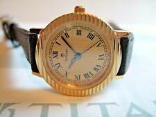 Women's Titan Executive Gold Plated 869YAA Watch! Gold Patterned Dial!