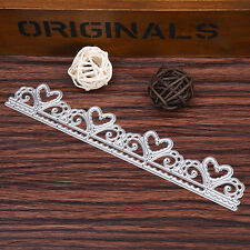 Lace Stencil Cutting Dies Scrapbooking card diary Punching Template 173x28mm
