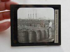 Keystone Magic Lantern Glass Slide Antique Photo #106 Savannah Ships Negro Man