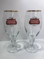 Stella Artois 40 CL Gold Rimmed Chalice Beer Glasses - Brand new - Set of Two
