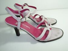 WOMENS PALE ROSE PINK LEATHER EMANUEL UNGARO SANDALS HIGH HEELS SHOES SIZE 9 M