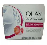 Olay Daily Facials 5In1 Hydrating Clean Grapeseed Extract 33 Ct Cloths