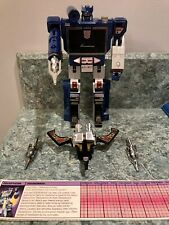 Transformers G1 SOUNDWAVE W/BUZZSAW 1984 Decepticon Complete Takara Pre Rub Nice