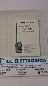 Manual IN English Original Use' For YAESU VX-6E