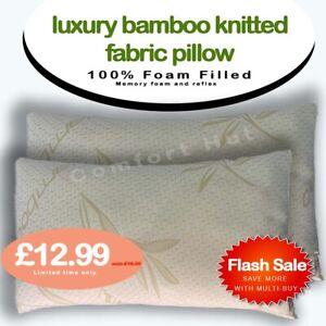 New Bamboo pillow memory and reflex foam neck back head support Medium/Firm