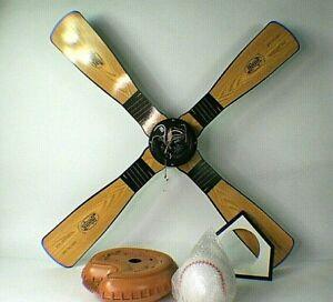 Hunter Baseball Ceiling Fan Reversible Blades Bat Glove Ball Home Plate Complete